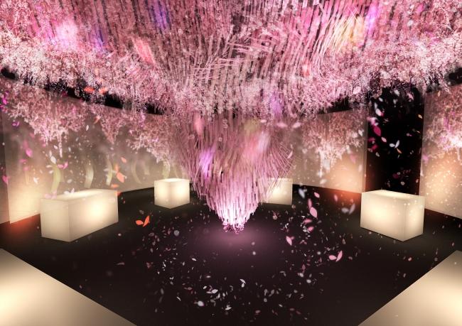 満開の桜アートで花見を楽しもう!「SAKURA TOWER by NAKED」