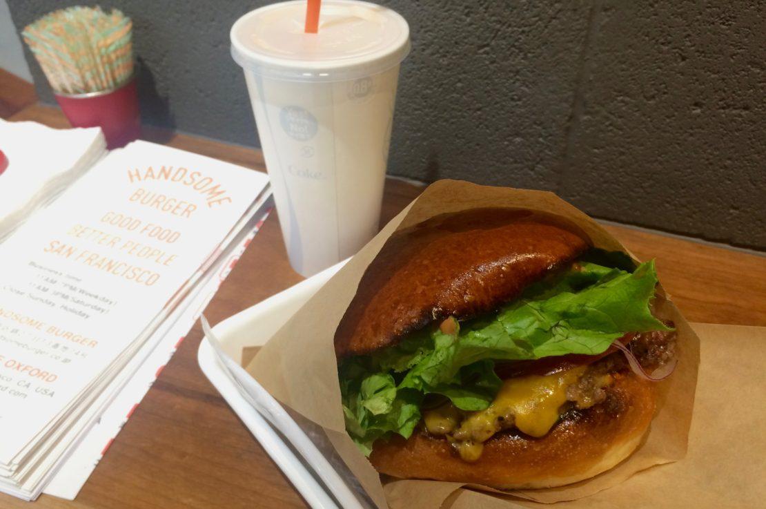 伏見地下街にある大人気のハンバーガー専門店「HANDSOME BURGER」