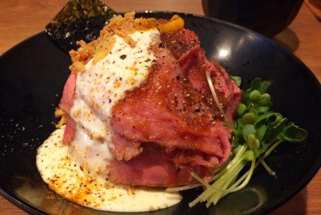 肉好き必見!名古屋栄、ローストビーフ丼専門店「ロビコネ」