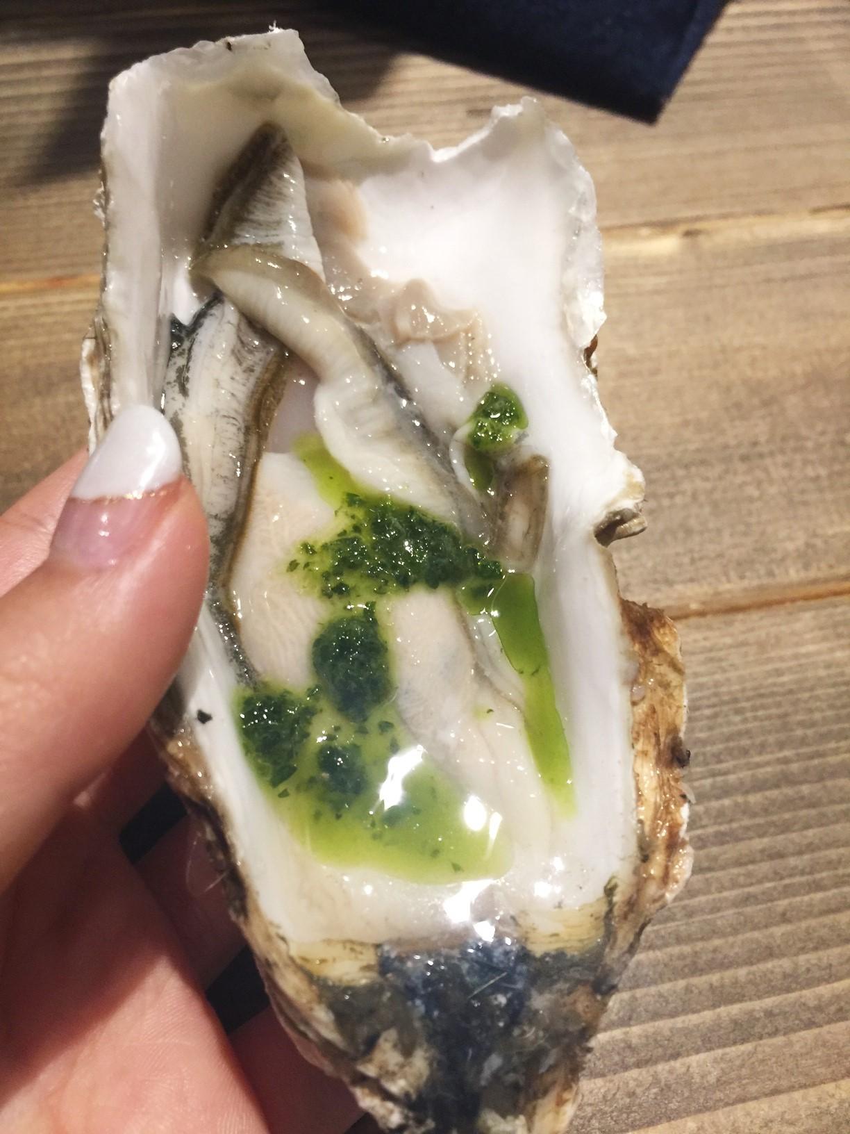 メリケンサカナ バジル味 生牡蠣