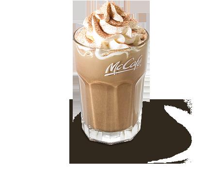 アイスカフェモカ(M) ¥340 ホイップがのっているカフェモカはマックカフェバイバリスタ限定