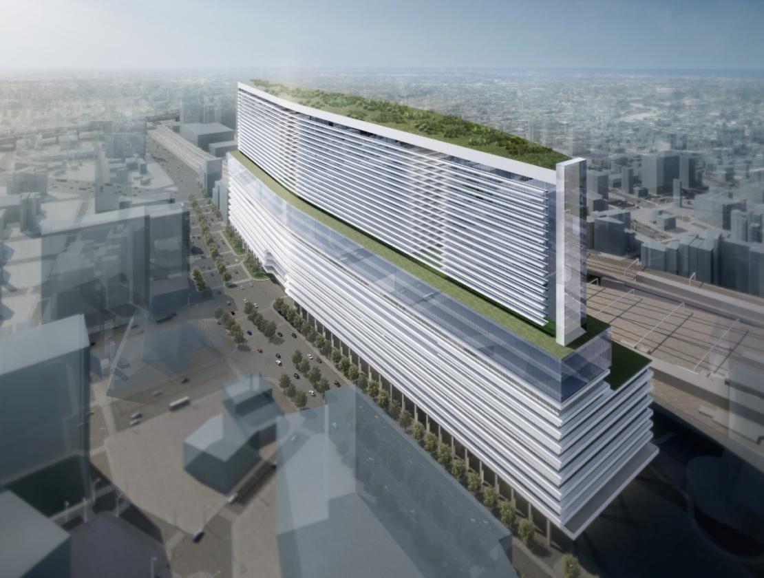 名鉄名古屋駅地区の再開発で新ビル誕生!南北400メートルを誇る横長施設