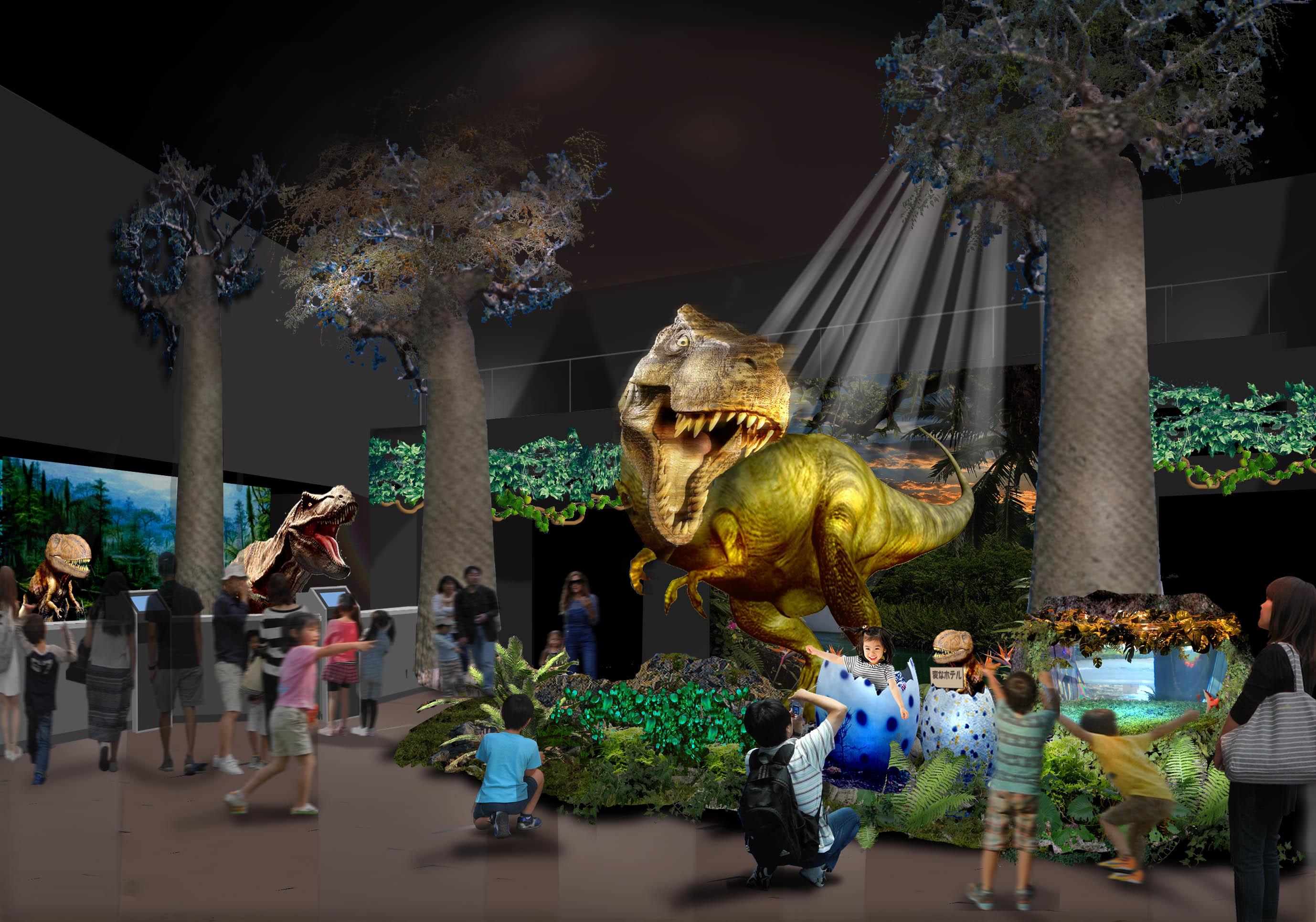受付で恐竜がお出迎え⁉︎ 2017年8月、ラグナシアに『変なホテル』が誕生! - img 129089 1