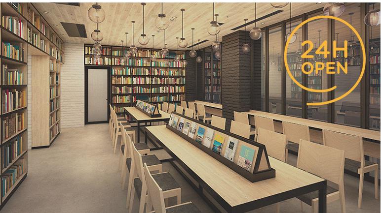 本の世界に没頭できるホテル『ランプライトブックスホテル名古屋』が伏見にオープン - cafe img 02