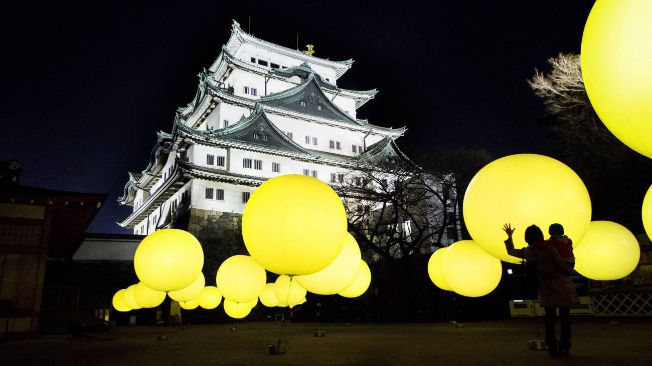 インスタ映え必至「チームラボ 浮遊する、呼応する球体 - 名古屋城」14日まで - 13565