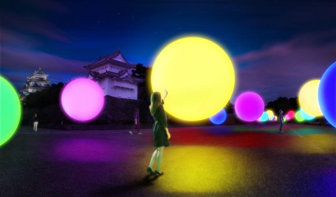 インスタ映え必至「チームラボ 浮遊する、呼応する球体 - 名古屋城」14日まで - 23098564 1079187608784385 2000612306395856896 n