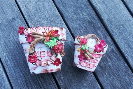 こんなしめ縄なら飾りたい!岡崎市デコポットアーティストが贈る、しめ縄デコポット