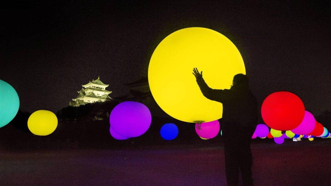 インスタ映え必至「チームラボ 浮遊する、呼応する球体 – 名古屋城」14日まで