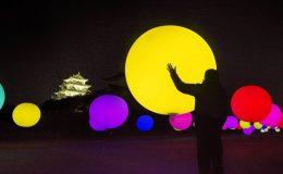 インスタ映え必至「チームラボ 浮遊する、呼応する球体 - 名古屋城」14日まで - 13563 260x160