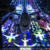「FLIGHT OF DREAMS」チームラボの展示は、ボーイング実機を使用!