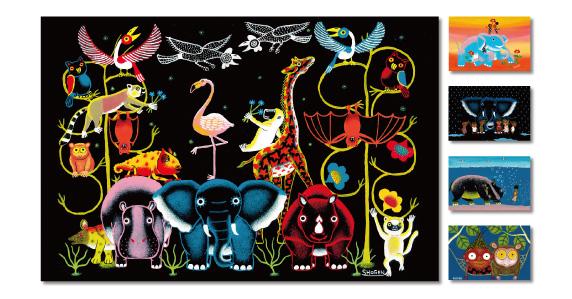 日本人画家SHOGENが描く ユニークで「人々を幸せにする」アフリカンアート展が栄で開催! - main 1