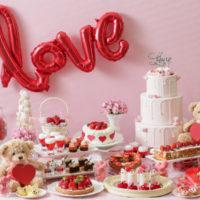 イチゴ・ハート・ベアがモチーフに!「恋するいちご バレンタインブッフェ」開催