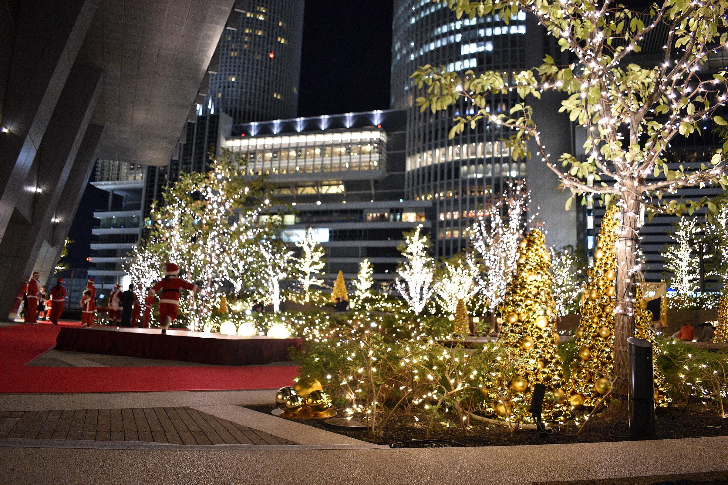 クリスマスデートならここ!!大名古屋ビルヂングスカイガーデンゴールドイルミネーション - s DSC 0429
