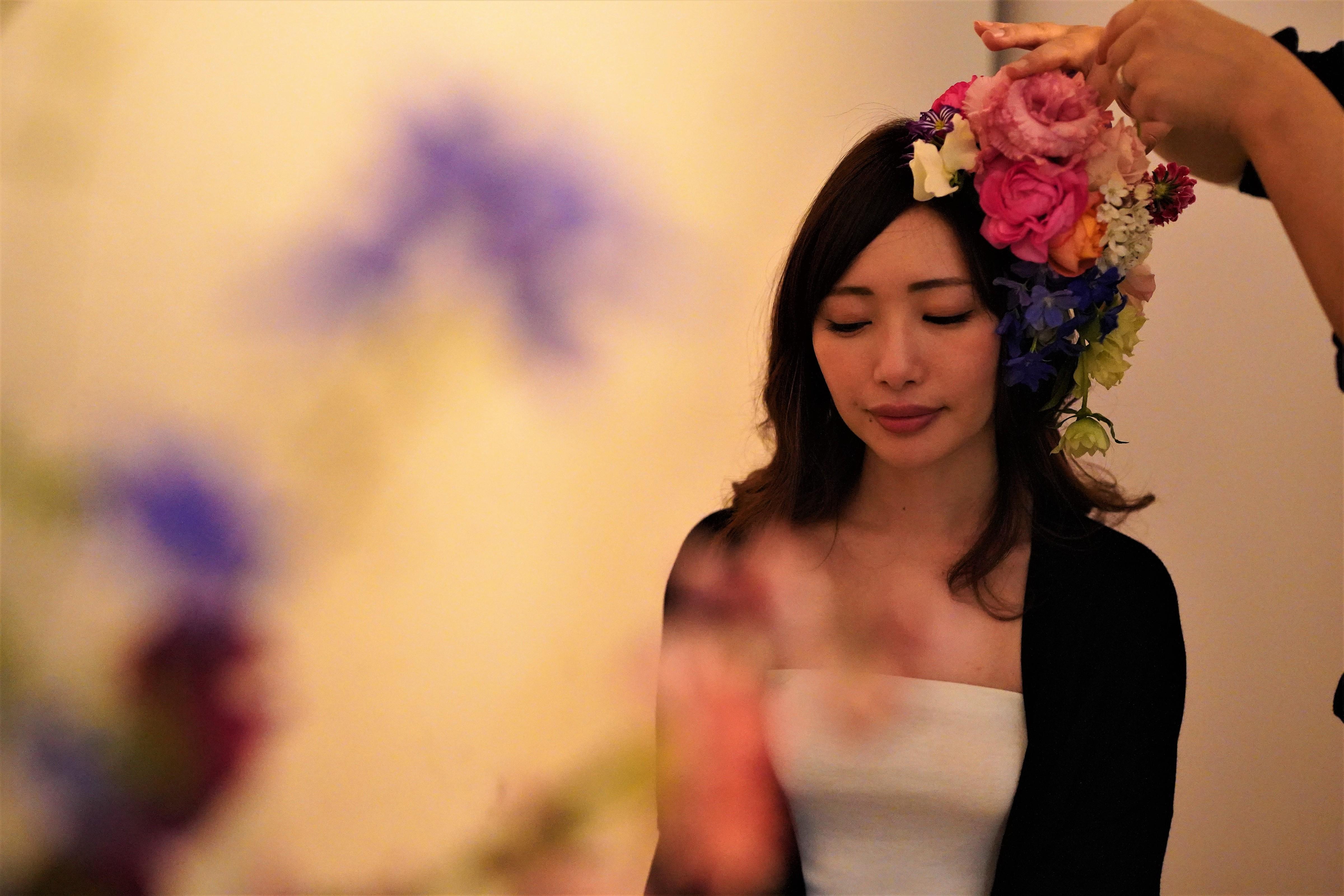 頭に花を盛れる贅沢体験とは?「HANANINGEN」であなただけの一枚を。 - DSC06726 2