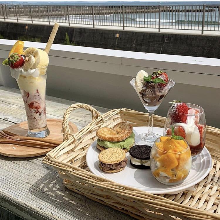 海を眺めながらフォトジェニックなパフェはいかが?南知多町のカフェ「cafe of sea and sky」