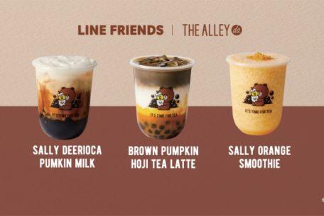 THE ALLEYとLINE FRIENDSが期間限定コラボ。マンゴーやかぼちゃの新作ドリンクは見逃せない!