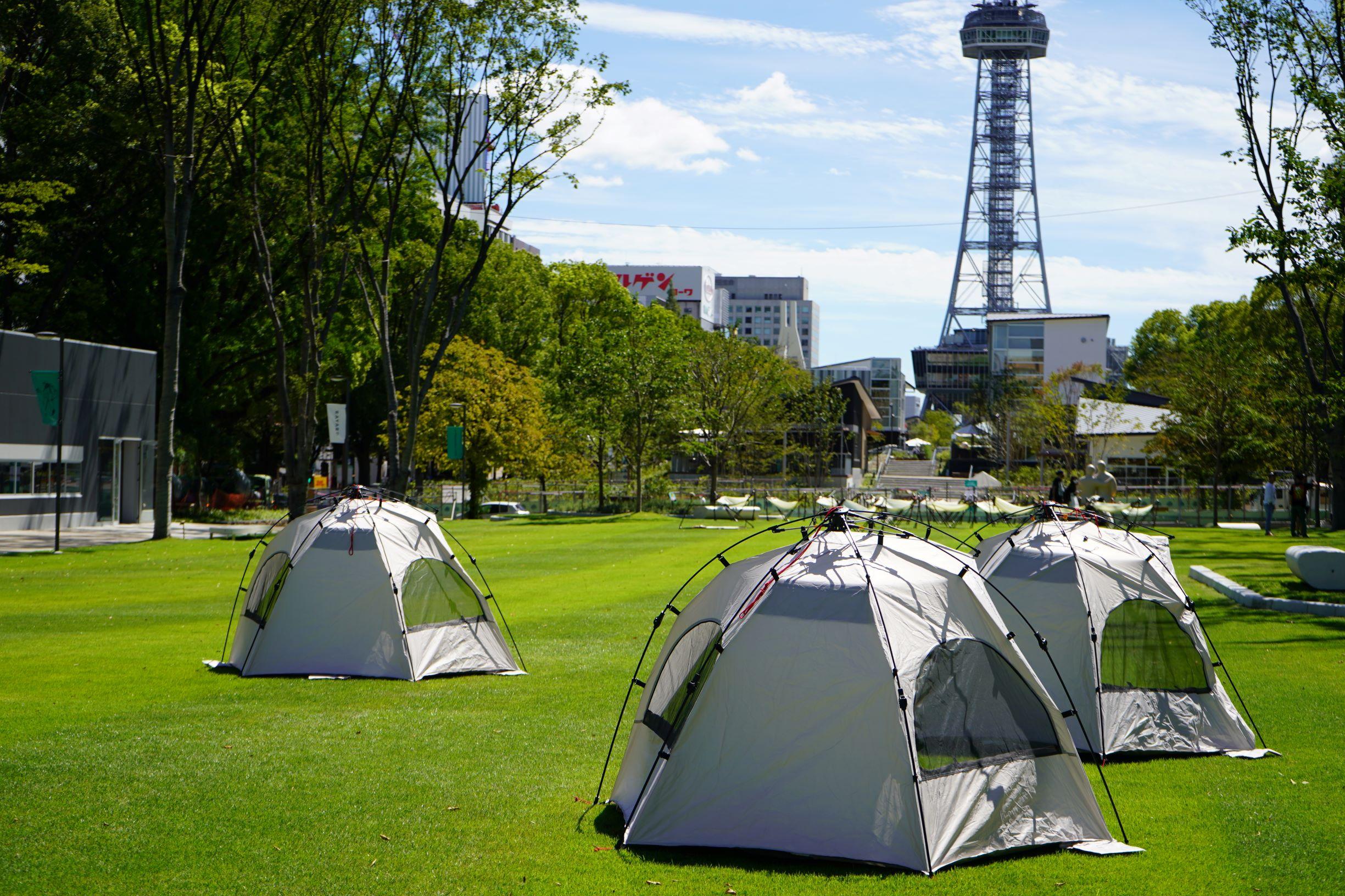 テントにハンモックも!久屋大通パークの芝生広場で、思い思いの過ごし方を - DSC03387