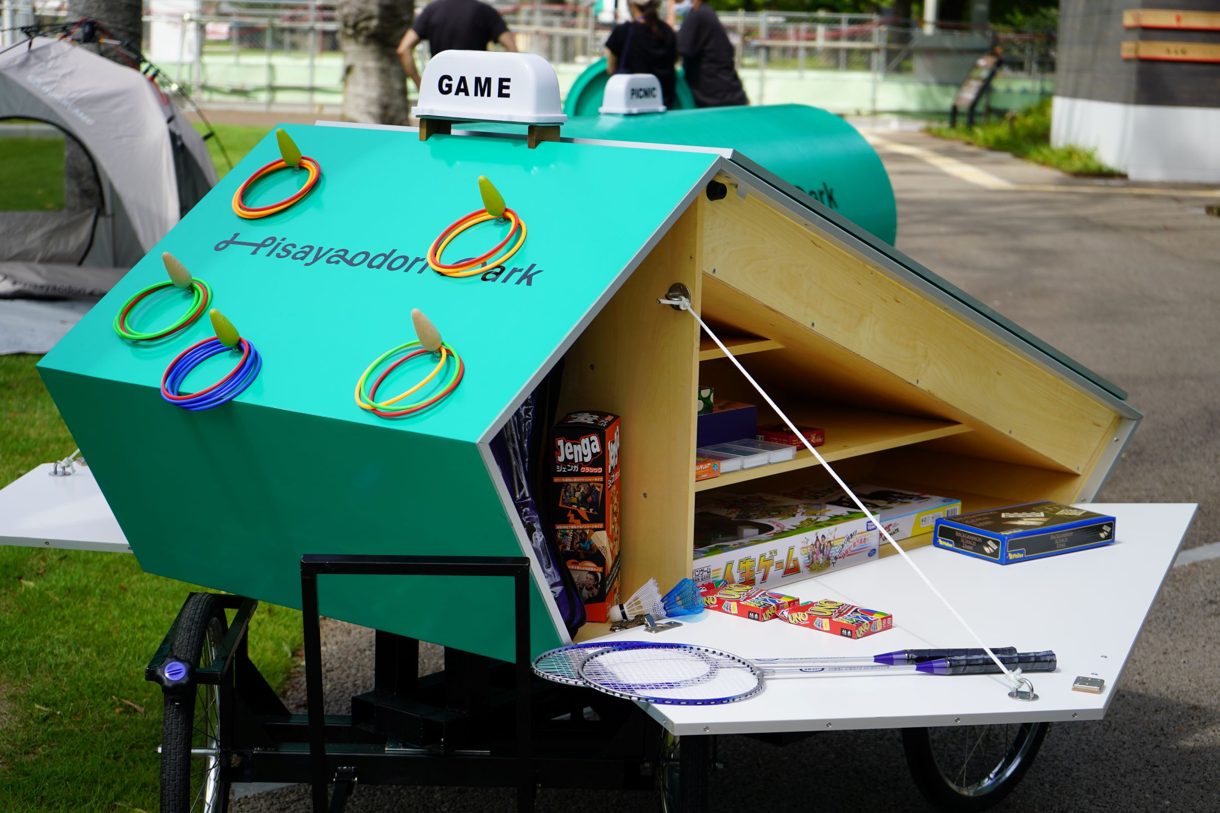 テントにハンモックも!久屋大通パークの芝生広場で、思い思いの過ごし方を - DSC03402