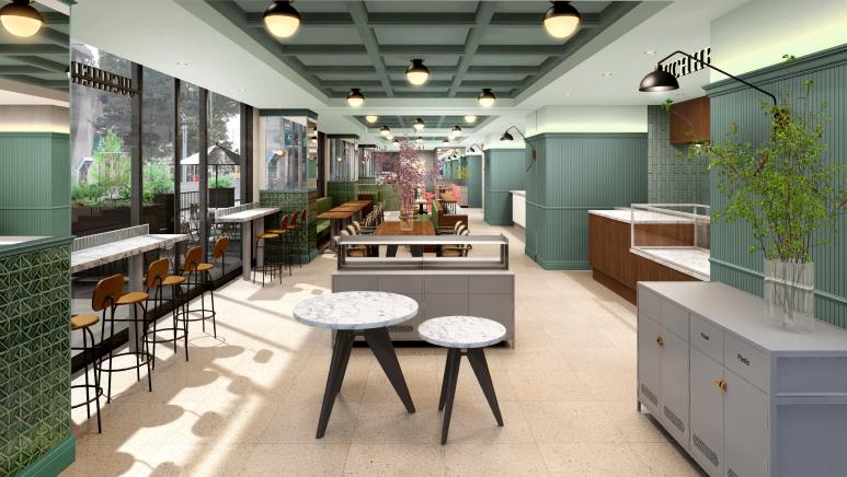 バームクーヘンで有名なユーハイムが、名古屋・栄に「働く×食べる」複合施設を2021年3月オープン!最新テクノロジーで作るバームクーヘンも! - photo floor 01